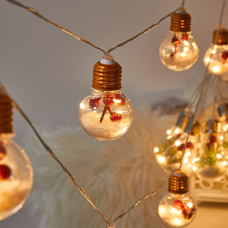 Led غرفة زينة شجرة أعياد الميلاد سلسلة مصباح في الهواء الطلق لمبة سلسلة ضوء