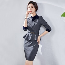 Business Dress Goddess Style Sales Department Jewelry Shop Workwear Beautician Medical Beauty Front