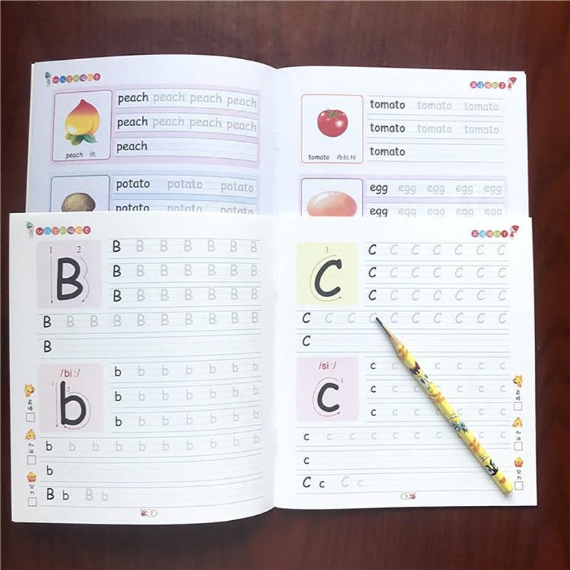caligrafia livros manuscrito pre escolar criancas exercicios copybook descricao 3d