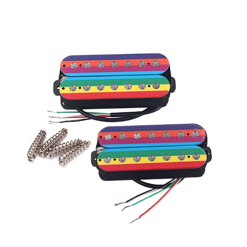 Alnico v 7 String Electric Guitar Double Coil Neck Bridge Pickups Humbucker W91C