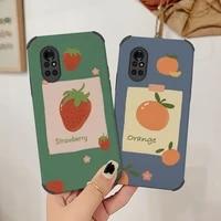 vintage strawberry phone case for huawei nova8 8pro 8se nova 7 7pro 7se 6 6se 5 5pro 5z 5i 5ipro 4 4e cover