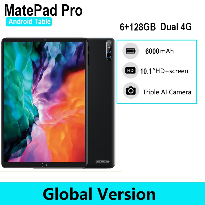MatePad Pro 10.1inch Tablet 6GB RAM 128GB ROM Android 10.0 Android Tablet 4G WIFI phone call Tablett