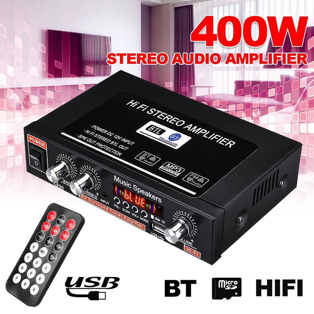 12V/220V 360W G30 Mini Amplificador de Audio bluetooth Estéreo Amplificador de potencia...