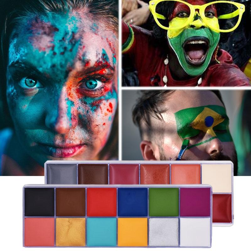 Краска для тела краска лица палитра тату макияж масляная живопись хна Хэллоуин