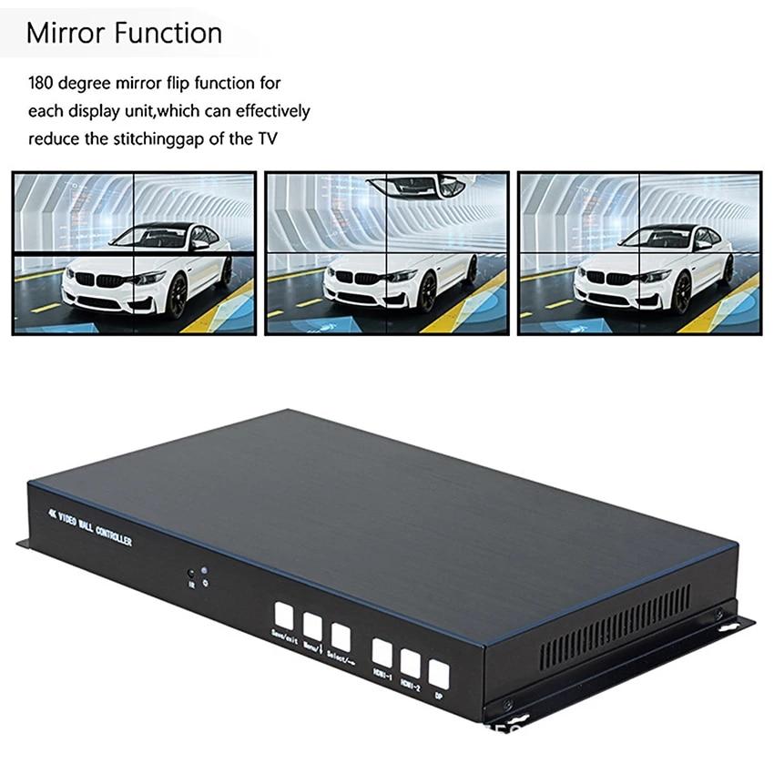 4K @ 60HZ 2X2 TV Video Wall Controller 1 HDMI2.0/HDMI1.4/DP1.2 Input 4 HDMI Output Video Processor support 1X2/1X3/1X4