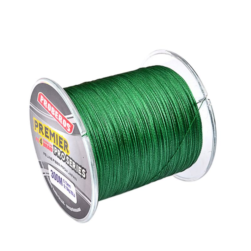 300M PE Multifilament Braided Fishing Line Super Strong Fishing Wire 4 Strands Carp Fishing Rope Cord Outdoor Fishing Tackle