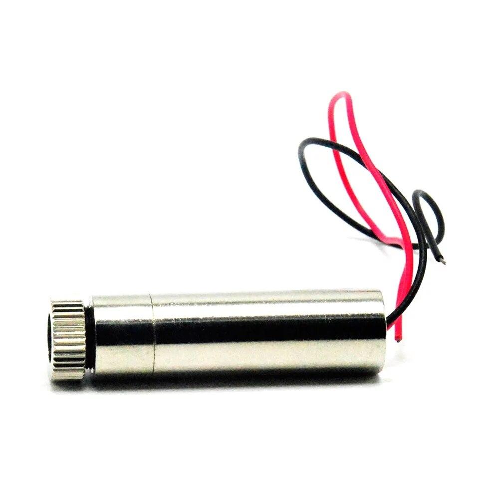 Фокусируемый регулируемый 515 нм 520 нм 10 мВт зеленый точка луч лазер диод модуль