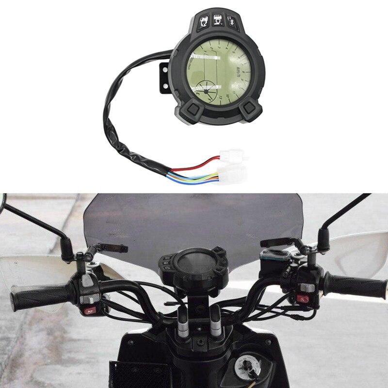 Motorrad 7 Farbe Einstellbar LCD Digital Display Kilometerzähler RPM Meter Digital Manometer für Yamaha BWS125