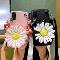 3d fashion little daisy flowers clear phone case for iphone 12 11 pro max x xs xr 7 8 plus se soft back cover wallet silicone