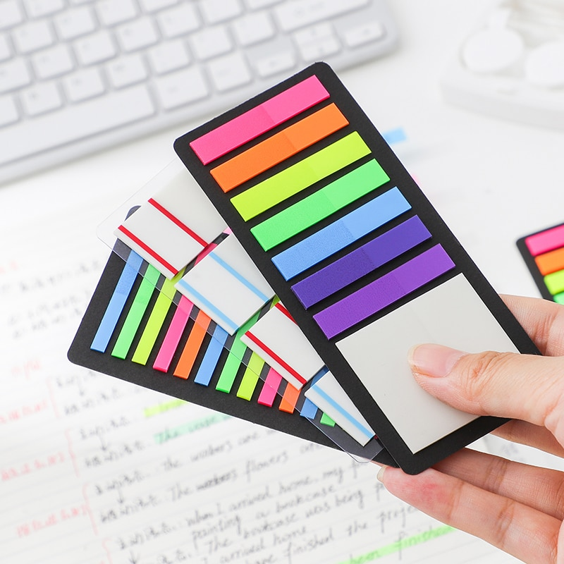 23 Designs Minimal Ins Style Fluorescence Self Adhesive Memo Pad Sticky Notes Bookmark Marker Studen
