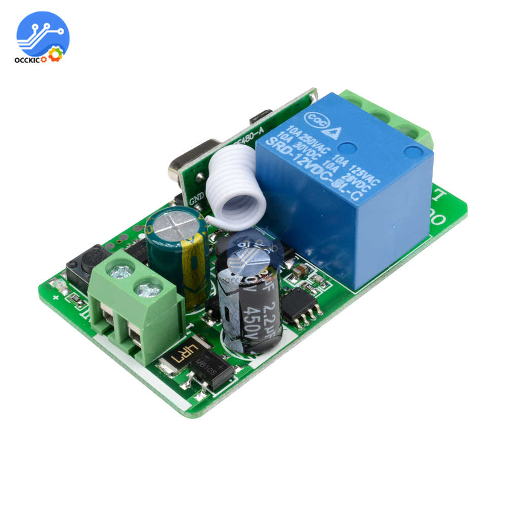 Relés AC 220V 315MHZ 433MHz mando inalámbrico de radiofrecuencia 1 CH temporizador relé módulo transmisor receptor para casa inteligente