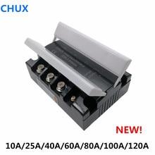 CHUX relais SSR à trois Phases   Relais 10a 25a 40a 60a DC à AC DA ZG33 3-32VDC SSR