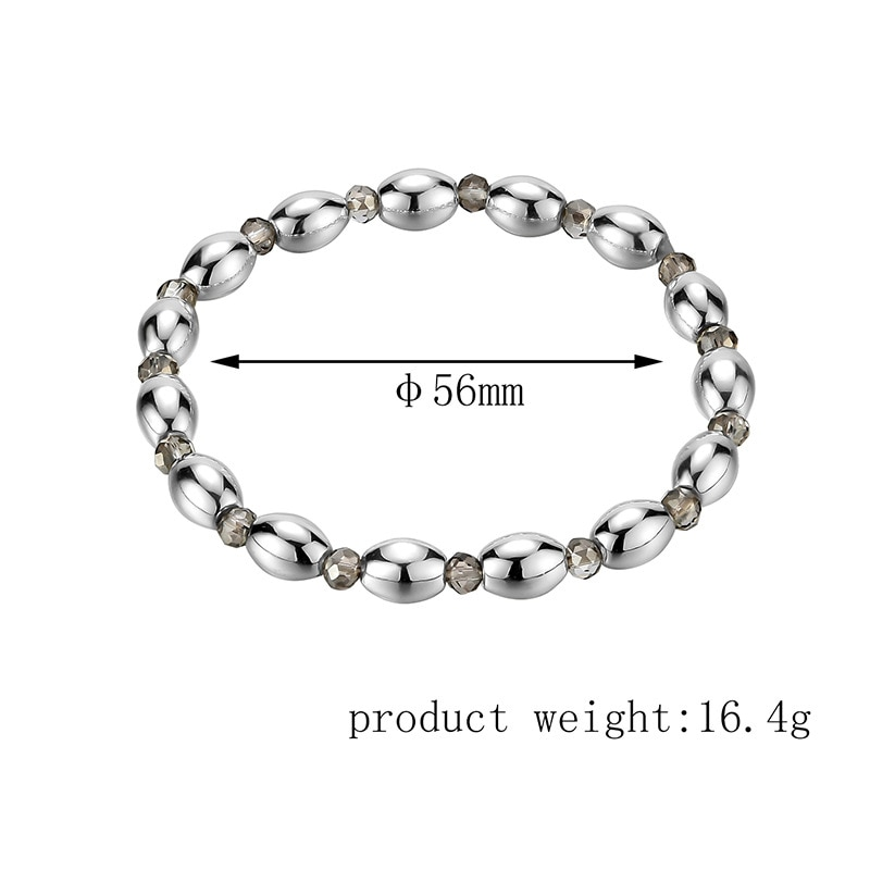 The New Trend and Fashion Black Gallstone Color-Plated Weak Magnetic Bracelets Go Out to Wear Radiation Protection Bracelets  - buy with discount