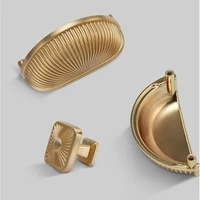 grace golden shell shape zinc alloy kitchen cabinet knobs chinese style handles ambry of the united states and europe type pulls