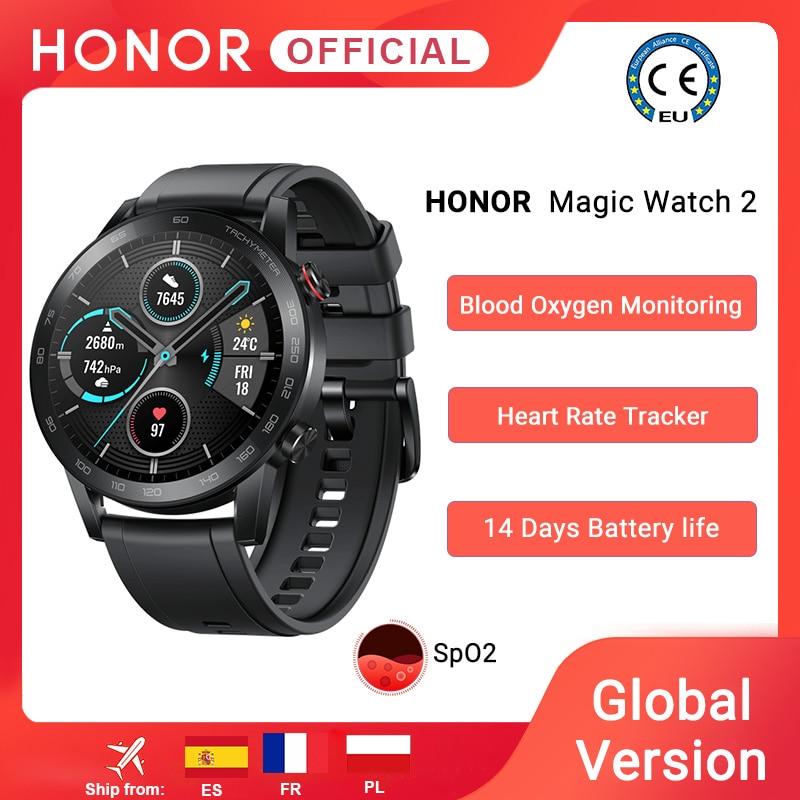 Get In Stock Global Version Honor Magic Watch 2 Smart Watch Bluetooth 5.1 Smartwatch Blood Oxygen 14 Days Waterproof MagicWatch 2