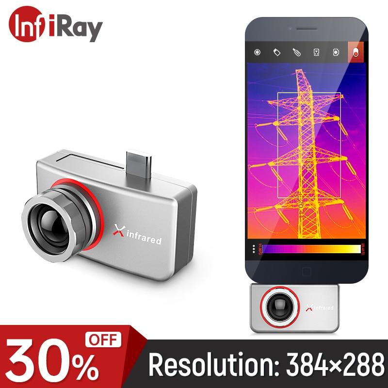 InfiRay كاميرا تصوير حراري بالأشعة تحت الحمراء T3S T3PRO الصناعية PCB الدائرة كشف في الهواء الطلق أندرويد التصوير الحراري للهاتف