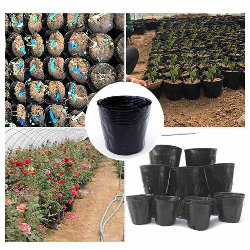 Bolsa para cultivo de plantas negras, 10 Uds., recipiente para macetas y verduras, Maceta de jardín de patatas DIY, bolsa para cultivo de plantas en 7 tamaños