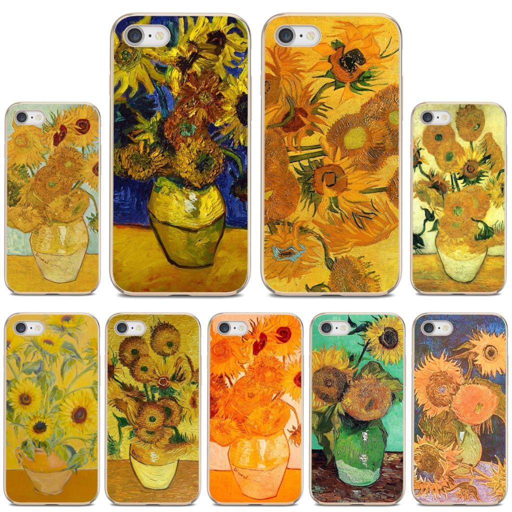 Case For Xiaomi Redmi 2 S2 3 3S 4 4A 5 5A 5 6 6A 7A 9 9T 9C 9A Pro Pocophone F1 Van-Gogh-Sunflowers-