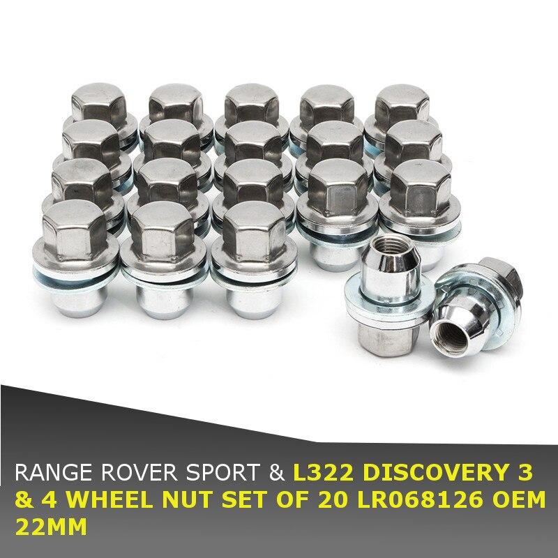 Nuevo 20 unids/set 22MM Juego de tuercas de rueda LR068126 para Land Rover para Range Rover Sport L322 para Discover 3/4