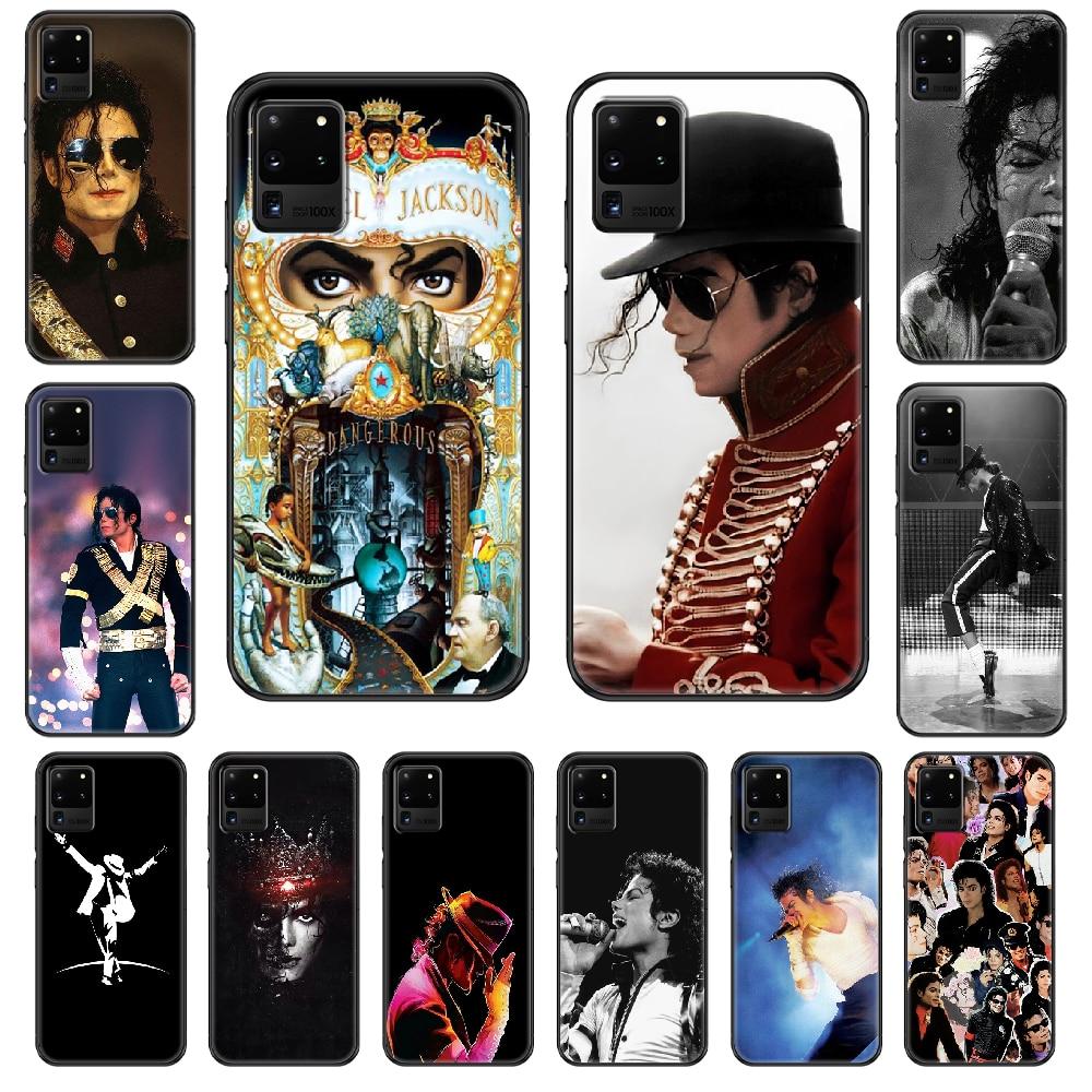 American Michael Jackson Phone case For Samsung Galaxy S 3 4 5 6 7 8 9 10 E Plus Lite Edge black pretty bumper art prime