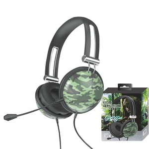 3.5mm Camouflage Gaming Headset Professional Gamer Stereo Head-mounted Headphone Computer Earphones For PS4 PS3 Xbox Switch