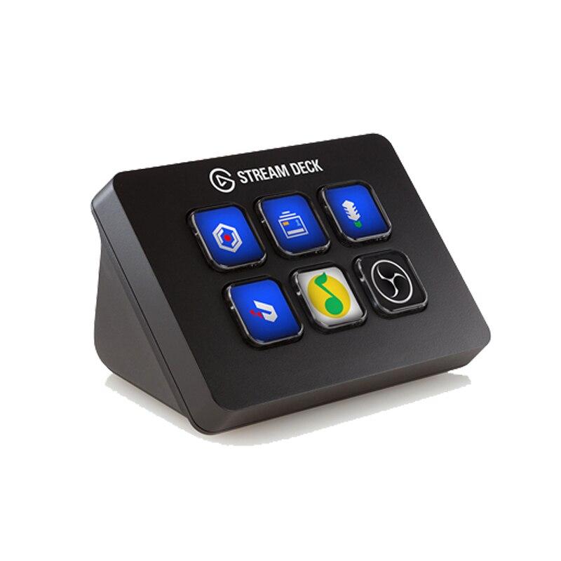 Elgato Stream Deck mini 6 Custom LED KEY Video Audio Game USB Streaming Twitter Game Capture OBS Twitch Tipeee XSplit