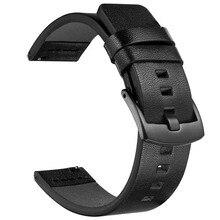 22mm 20mm bandes de cuir pour Samsung Galaxy montre 46mm 42mm actif 2 40mm 44mm bande Gear S3 bracelet frontière pour Huawei montre GT 2