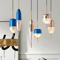 Nordic Creative Modern Simple Restaurant Pendant Light Livingroom Bedroom Cafe Bar Decoration Lamp With Led Bulbs