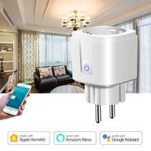 Wireless Smart Socket 2.4G WIFI Homekit Siri IOS Apple Compatible Power Socket EU Plug Outlet 15A AC 90-250V wifi socket