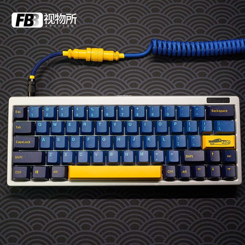 FBB كابلات نوتيلوس اللون اليدوية مخصصة الطيران التوصيل لوحة المفاتيح كابل نوع-c دوامة كابل بيانات GMK للوحة المفاتيح الميكانيكية
