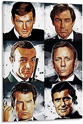 Sean Connery Daniel Craig James Bond 007 Poster Movie Picture Print Canvas Wall Art Home Room Decor Mural 58 (8x12inchNo framed)