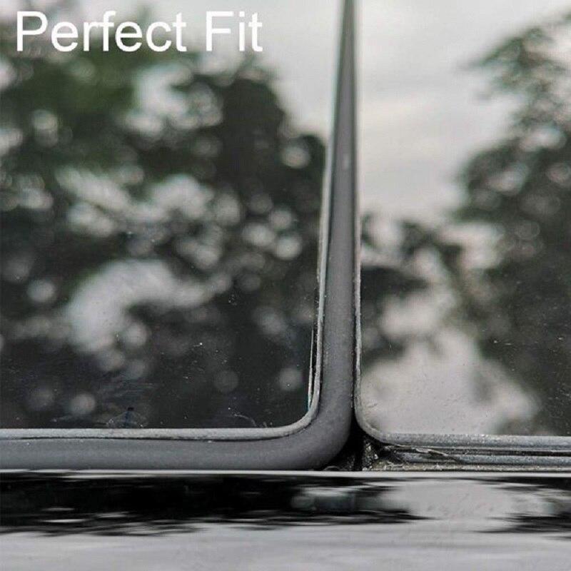 Для Tesla Model 3 ветровое стекло и крыша, ветрозащитное уплотнение, шумоподавление, уменьшение загара, резиновое уплотнение, бесшумное силиконовое уплотнение, комплект-2