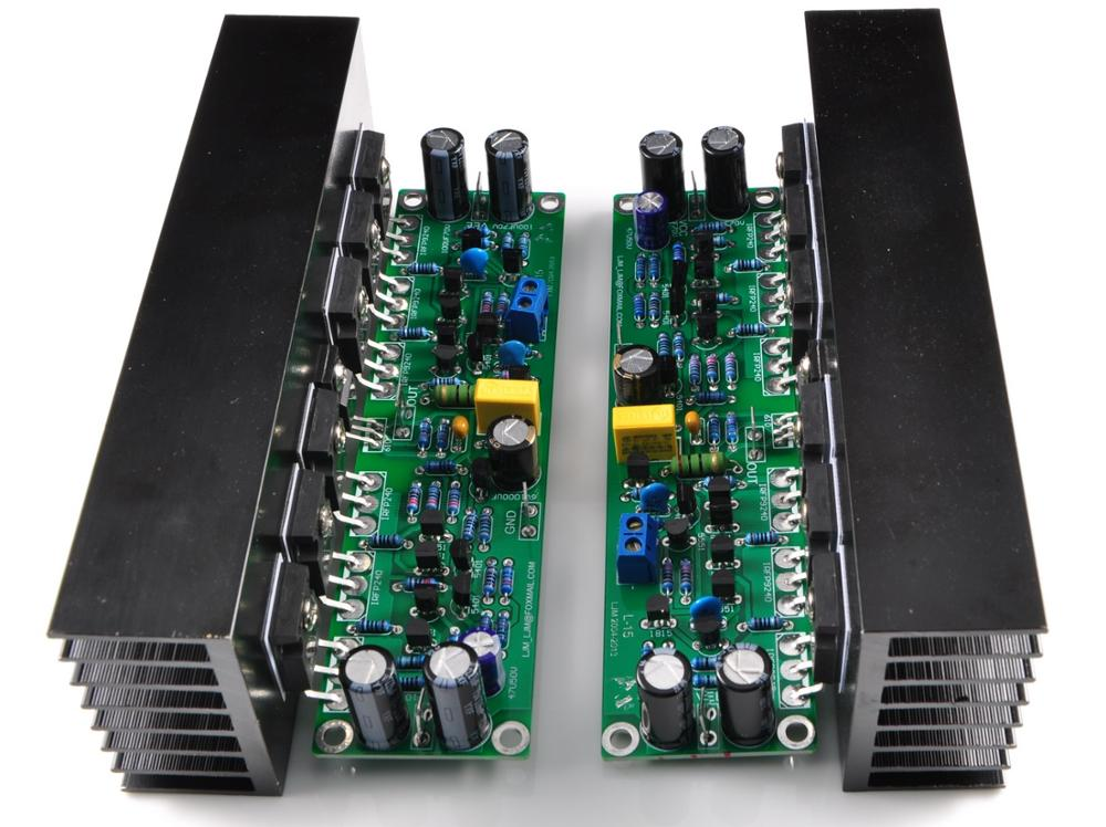 Placa amplificadora DIY 2 uds, placa amplificadora L15 MOSFET de 2 canales AMP + disipador térmico 2 uds (IRFP240 IRFP9240)