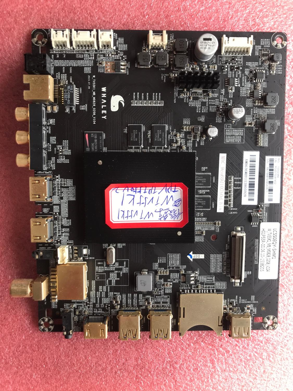 Original micro baleia wtv55k1 placa-mãe W-TV55K1-MB-M0828-0208-V104 tela lc550eq hv55