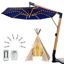 Umbrella Lights LED 8 Kinds Lighting Modes Patio Umbrella Led Light Outdoor Garden Parasol Light Remote Control Waterproof