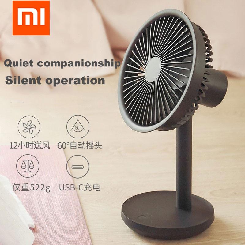 Xiaomi Desktop Fan 60 Degree Shaking Head Height Wind Speed Adjustable 4000mAh Type-C Chargeable Light Portable Fan SOLOVE Make