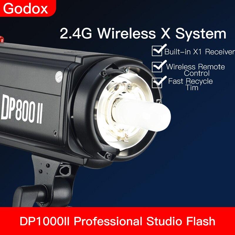 Godox DP800II 800Ws GN88 استوديو ستروب احترافي مع نظام Godox لاسلكي 2.4G X مدمج يوفر تصوير احترافي