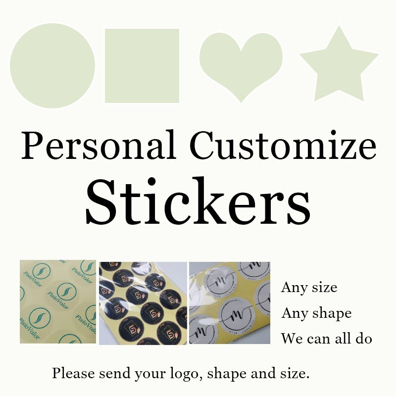 100pcs Custom Printed Advertising Seal Sticker Trademark Logo Wedding Takeaway Box QR Code Personalized Design Birthday Label wash label wash logo trademark main label main heading custom side label label custom embroidery