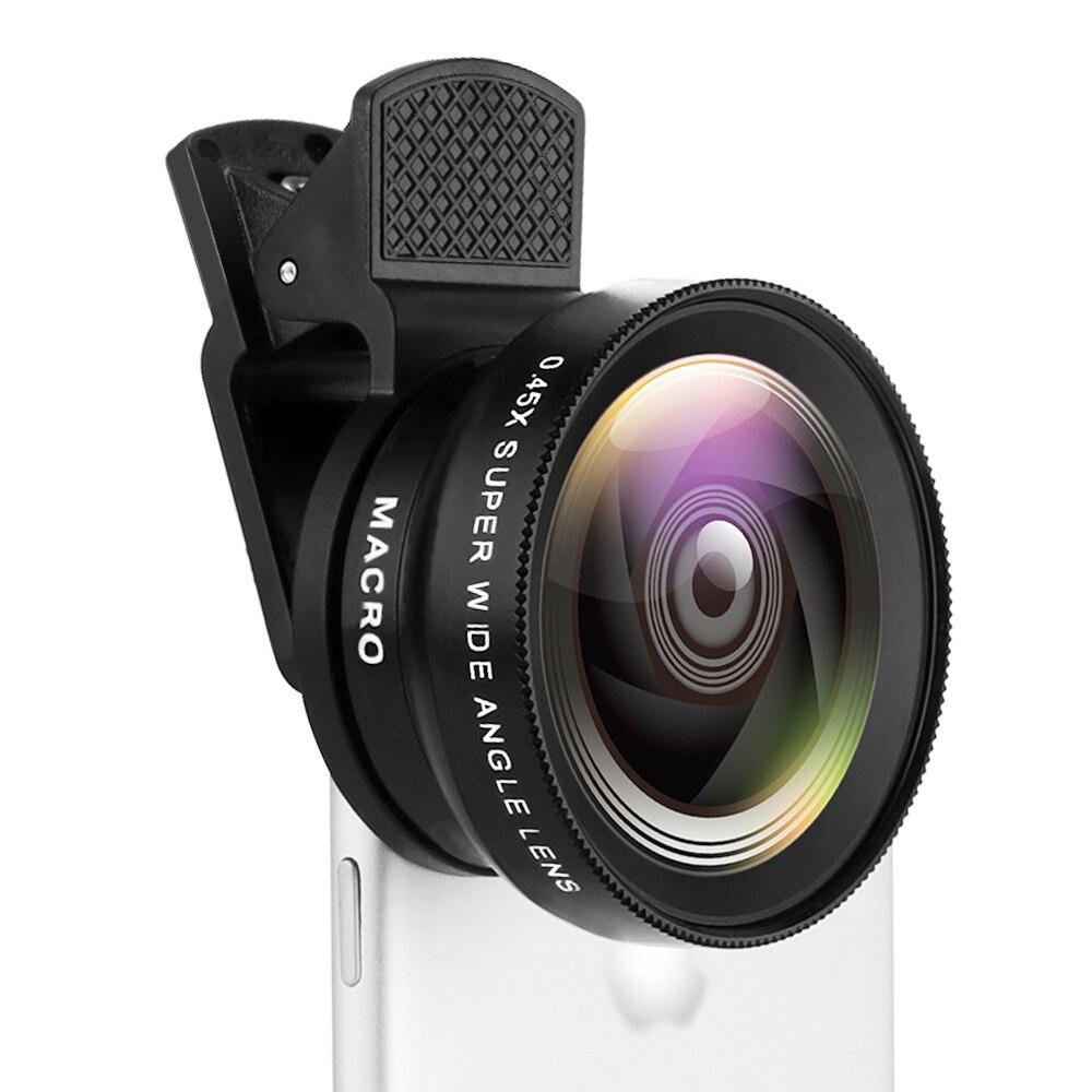 TOKOHANSUN Phone Lens kit 0.45x Super Wide Angle & 12.5x Super Macro Lens HD Camera Lentes for iPhon
