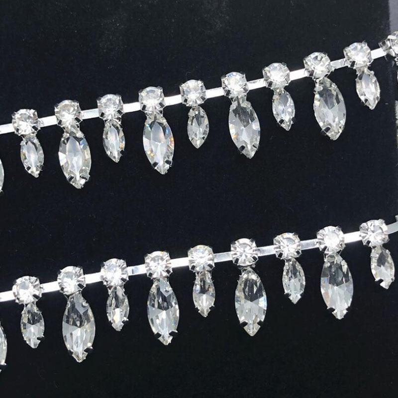 9Yards Rhinestone Trim Tassel Fringe Crystals Ribbon Shiny Trims DIY Sewing Decorated Craft