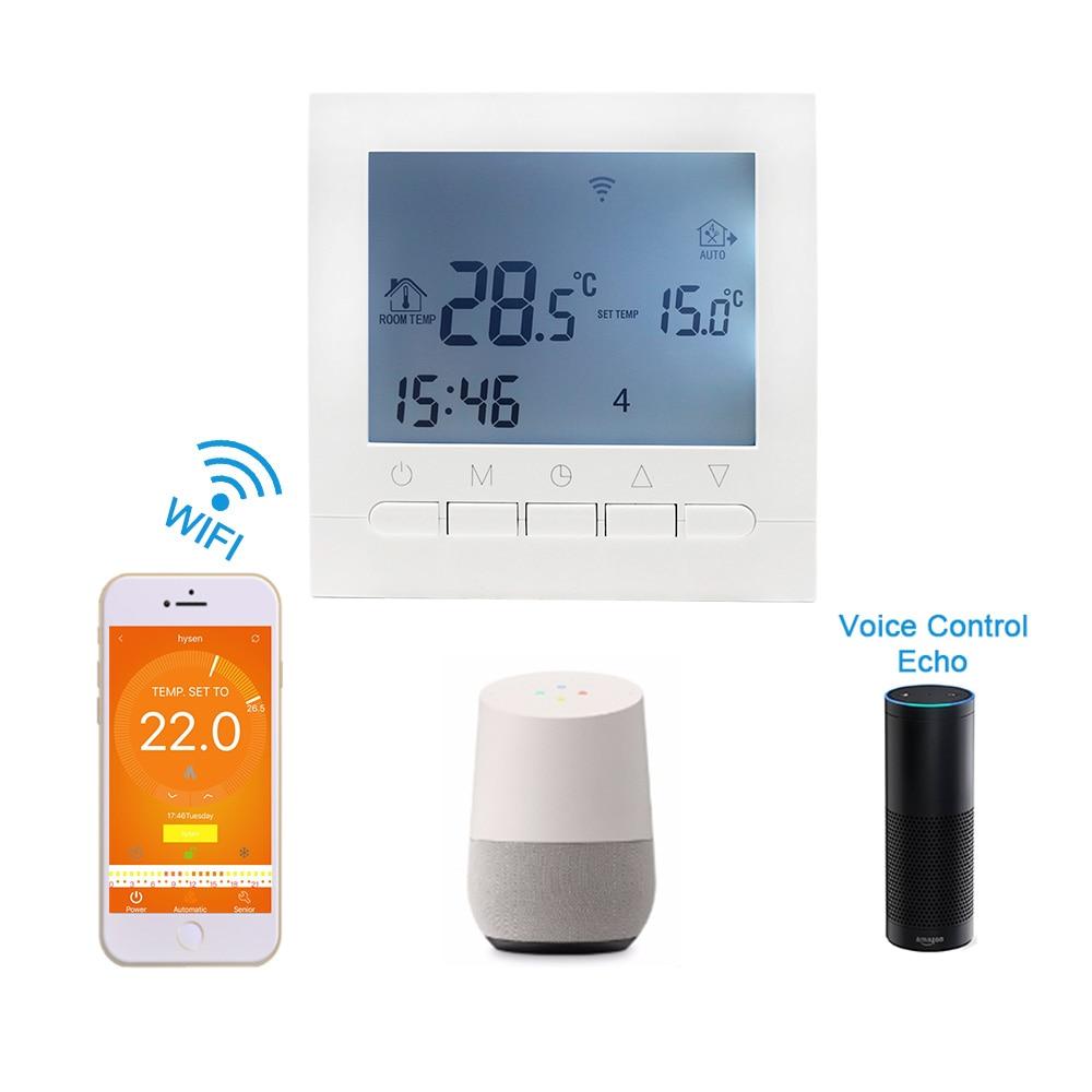 Termostato inteligente WIFI 16A AC220V agua/calefacción eléctrica regulador de temperatura programable semanal