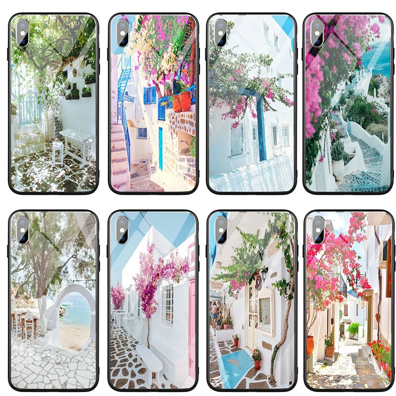 Tempered Glass Phone Accessories Case for iPhone 6s 7 plus 8 8plus X XR XS 11 12 Pro Max Shell Best Honeymoon Destinations