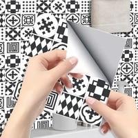 2020cm6pcs diy geometric tile renovation kitchen bathroom dining room wall floor decoration stickers waterproof