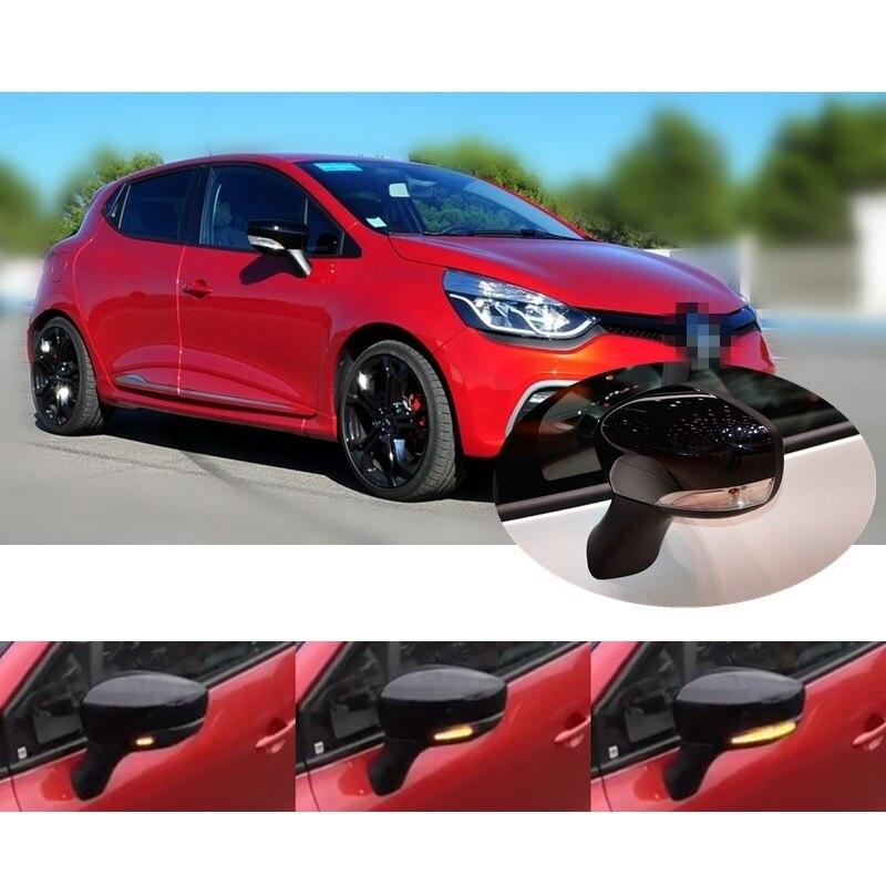 Подходит для Renault Clio IV MK4 BH RS Grandtour KH 2012 -2016 Динамический светодиодный мигалка зеркало индикатора Поворотный Светильник Репитер сигнала