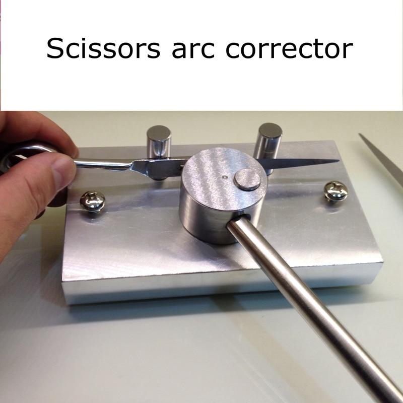 Scissors sharpener Light knife aluminum ingot copper hammer arc correction three-piece scissors tools for advanced sharpeners