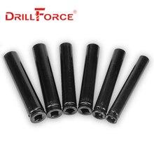 """Drillforce 14-32mm Set di bussole per chiavi lunghe 1/2 """"adattatore per unità chiave convertitore riduttore impatto elettrico presa esagonale"""