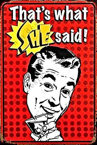 Винтажные пивные жестяные знаки, это то, что она сказала, забавные Металлические Пивные знаки, винтажные пивные настенные декорации, спирто...