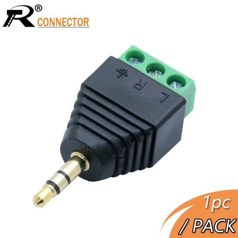 R Stecker 1pc 3,5mm Stecker 3 pin Terminal Block Stecker Anschluss 3,5mm Stecker 3 pin Terminal Block stecker Stecker