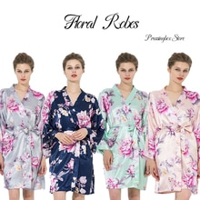 Silk Floral Robe Flower dress bride and bridesmaid robes comfortable soft and smooth flower dress ba