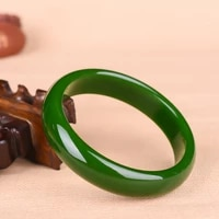 genuine natural green jade bracelet bangle chinese hand carved fashion charm jewelry accessories amulet for men women luck gifts